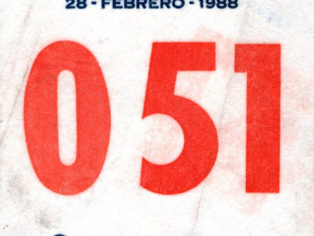 Dorsal media maratón 1988
