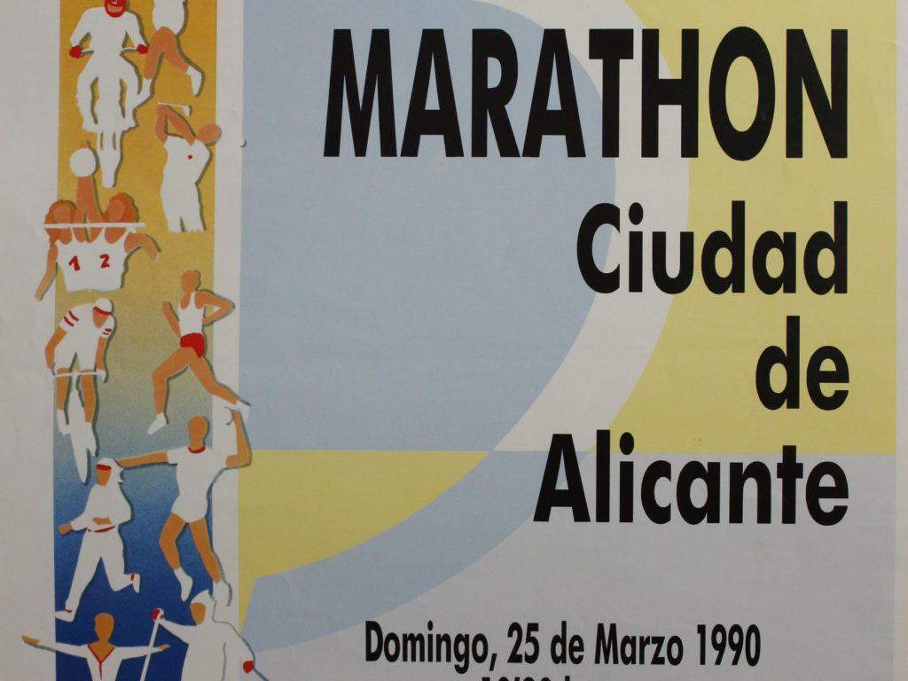 Cartel IX Media Maratón Alicante 1990