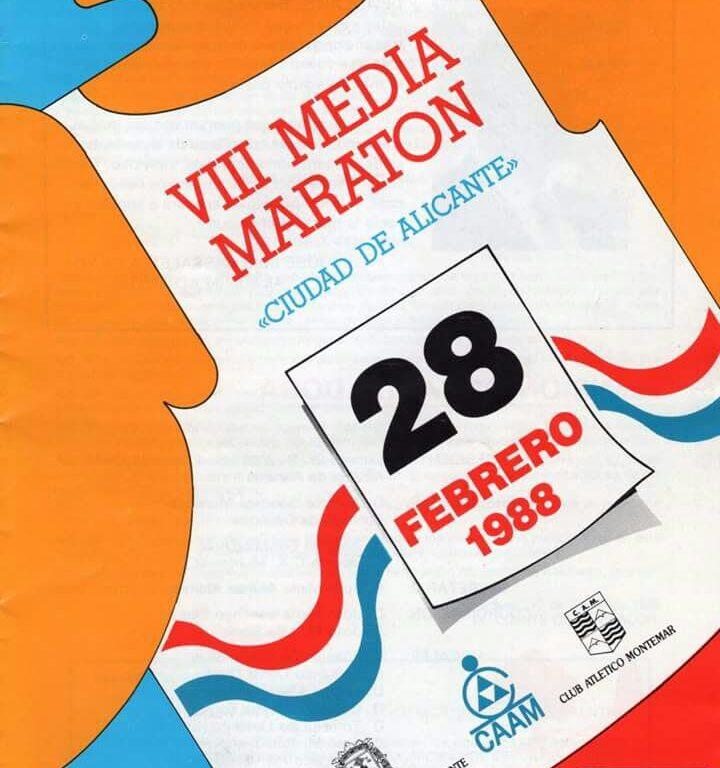 Cartel VIII Media Maratón Alicante 1988
