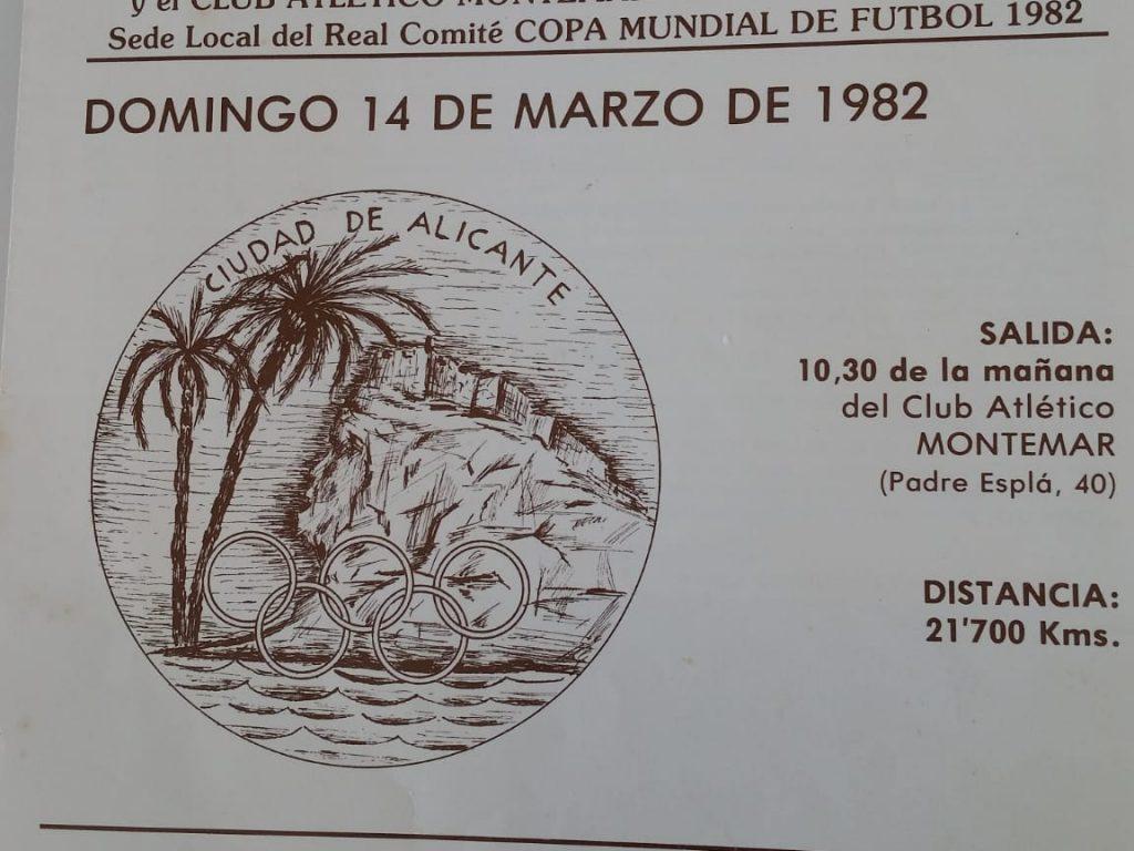 Cartel II Media Maratón Alicante 1982